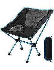 EXTSUD Outdoor opvouwbare stoel, draagbare campingstoel, draagbare opvouwbare aluminium camping reisstoel vissen wandelkruk backpacken stoelkruk (hoge tot 300 lbs)