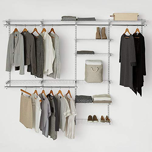Rubbermaid Configurations Custom Closet Deluxe Kit White 4 to 8 Foot FG3H8900WHT