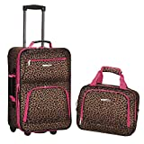 Rockland Fashion Softside Upright Luggage Set, Pink Leopard, 2-Piece (14/20)