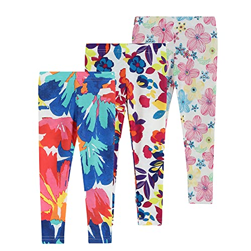 Felix & Flora Girls Leggings Pack 2T Toddler Baby Girls Cotton School Pants