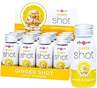 THE GINGER PEOPLE Ginger Shot Lemon & Cayenne, 12 x 60 ml