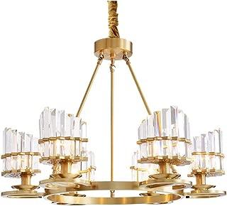 Modo Lighting Modern Crystal Chandelier 6-Light Brass Mid Century Luxury Flush Mounted Ceiling Light for Dining Room