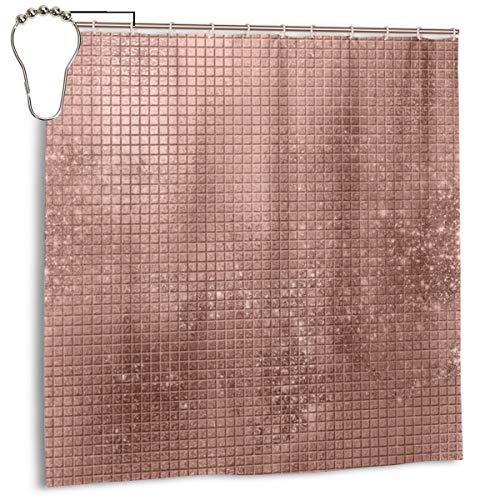 Jacklee Beautiful Modern Rose Gold Shine Duschvorhang 180 * 180cm Anti-Schimmel & Wasserabweisend Shower Curtain mit 12 Duschvorhangringen 3D Digitaldruck