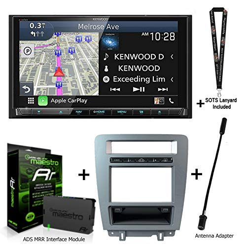 Kenwood Excelon DNX997XR Navigation Receiver + ADS iDatalink KIT-MUS1 Compatible with 2010-up Ford Mustangs + ADS-MRR2 + Sound of Tri-State Lanyard Bundle