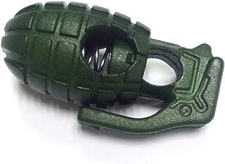 (Aideaz) 手榴弾 型 コード ストッパー シューレース ロック 紐止め ファッション アウトドア サバゲー グレネード