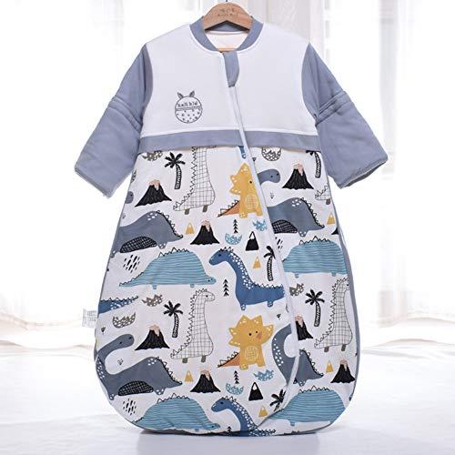 Takefuns Baby-Schlafsack, lange Ärmel, für Neugeborene, Babyschlafsack, Kinderschlafmatte, Schlafsack für 0-12 Monate, 120 cm, Adidas Sportschuhe mit Stollen, Dinosaurier, 80 cm