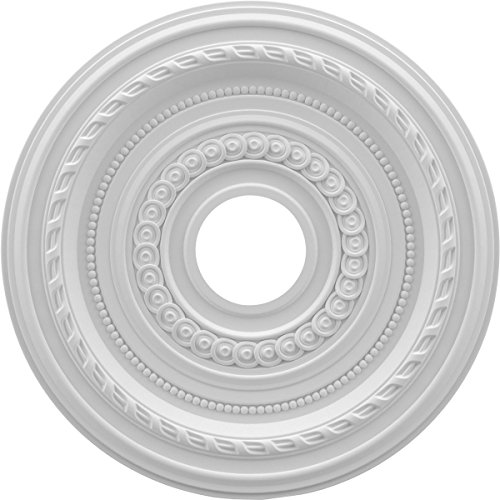 Ekena Millwork CMP16CO Cole Thermoformed PVC Ceiling Medallion, 16