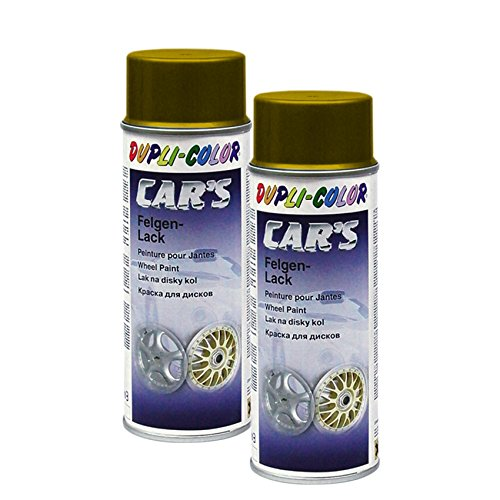 2X DUPLI-Color Cars FELGENGOLD FELGE Gold Glanz SCHUTZLACK Stahl LEICHTMETALL 40