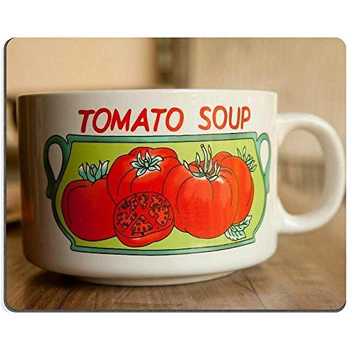 Gaming Mausepad,Rutschfeste Unterseite Mousepad,Office Mauspad,Maus Pad,Tomaten Suppentasse Weiß Essbare Mausunterlage, 30X25Cm