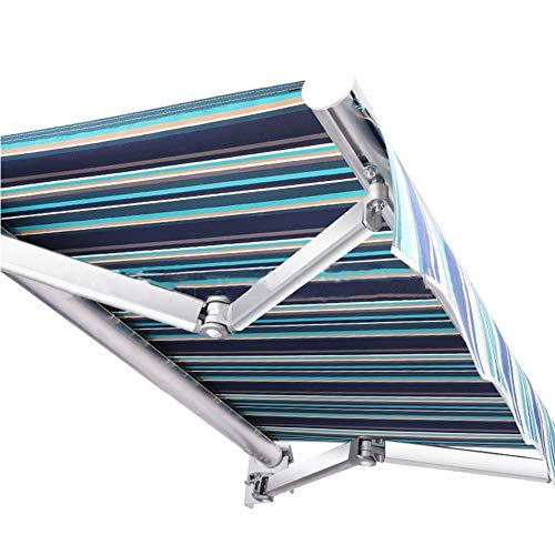 HBIAO Toldo Manual retráctil para Patio de Bricolaje, Refugio para sombrilla de jardín, toldo Plegable Anti-UV e Impermeable, con Accesorios y manivela,3x1.5m