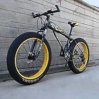 """24""""/ 26""""マウンテンバイク、ビッグホイールスノーバイク、24スピードデュアルディスクブレーキ、強力な衝撃吸収フロントフォーク、屋外オフロードビーチバイク"""