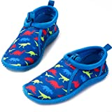 mysoft Kids Beach Water Shoes Non-Slip Quick Dry Barefoot Swim Shoes Aqua Socks for Boys and Girls Toddler Little Big Kid,8,Dinosaurs