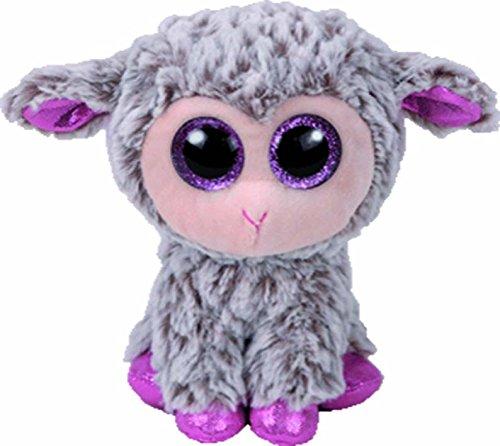 TY 36871 Lamb Dixie, Lamm grau/pink 15cm, mit Glitzeraugen, Beanie Boo's, Ostern limitiert