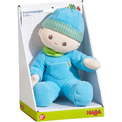 HABA Snug-up Doll Luis 8' First Boy Baby Doll - Machine Washable for Ages Birth and Up
