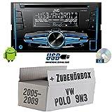 JVC KW-R520E - 2DIN Autoradio Radio - Einbauset für VW Polo 9N3 - JUST SOUND best choice for caraudio