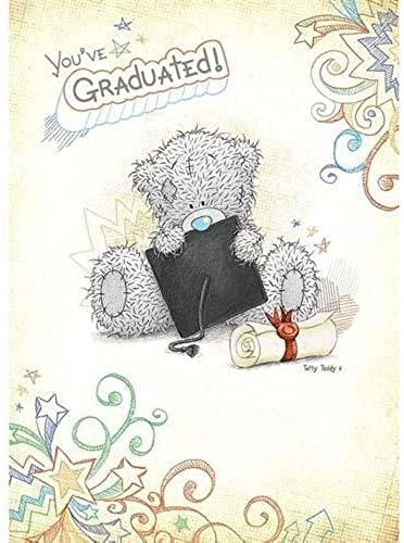You've Graduated Me to You Bear Card by Carte Weißhe