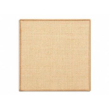 casa pura Tapis griffoir Jaune Clair pour Chats | en sisal résistant | 3 Tailles au Choix | Produit Naturel - sans substances Chimiques | 50x50cm