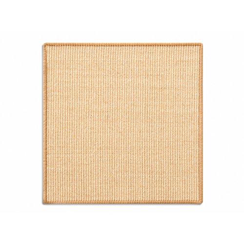 Floordirekt Sisal Fußmatte Teppich Vorleger Kratzteppich Katzenmöbel Kratzmatte Sisalmatte, widerstandsfähig & in vielen Farben und Größen erhältlich (50 x 50 cm, Natur)
