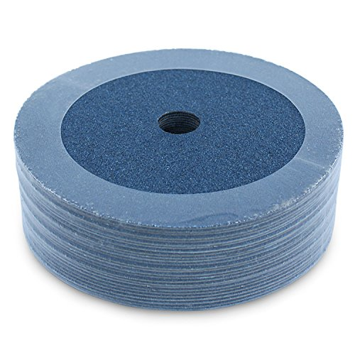 "BHA Zirconia Resin Fiber Grinding and Sanding Discs, 7"" x 7/8"", 60 Grit - 25 Pack"