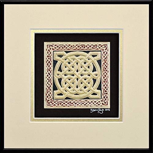 Celtic Square - Cast Paper - Irish Art - Scottish - Celtic Knot Work - Pictish - wall decor - Irish - Scottish