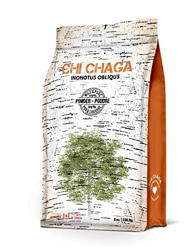 Premium Organic Chaga Mushroom Powder - 8 oz of Authentic 100% Wild Harvested Canadian Chaga Tea