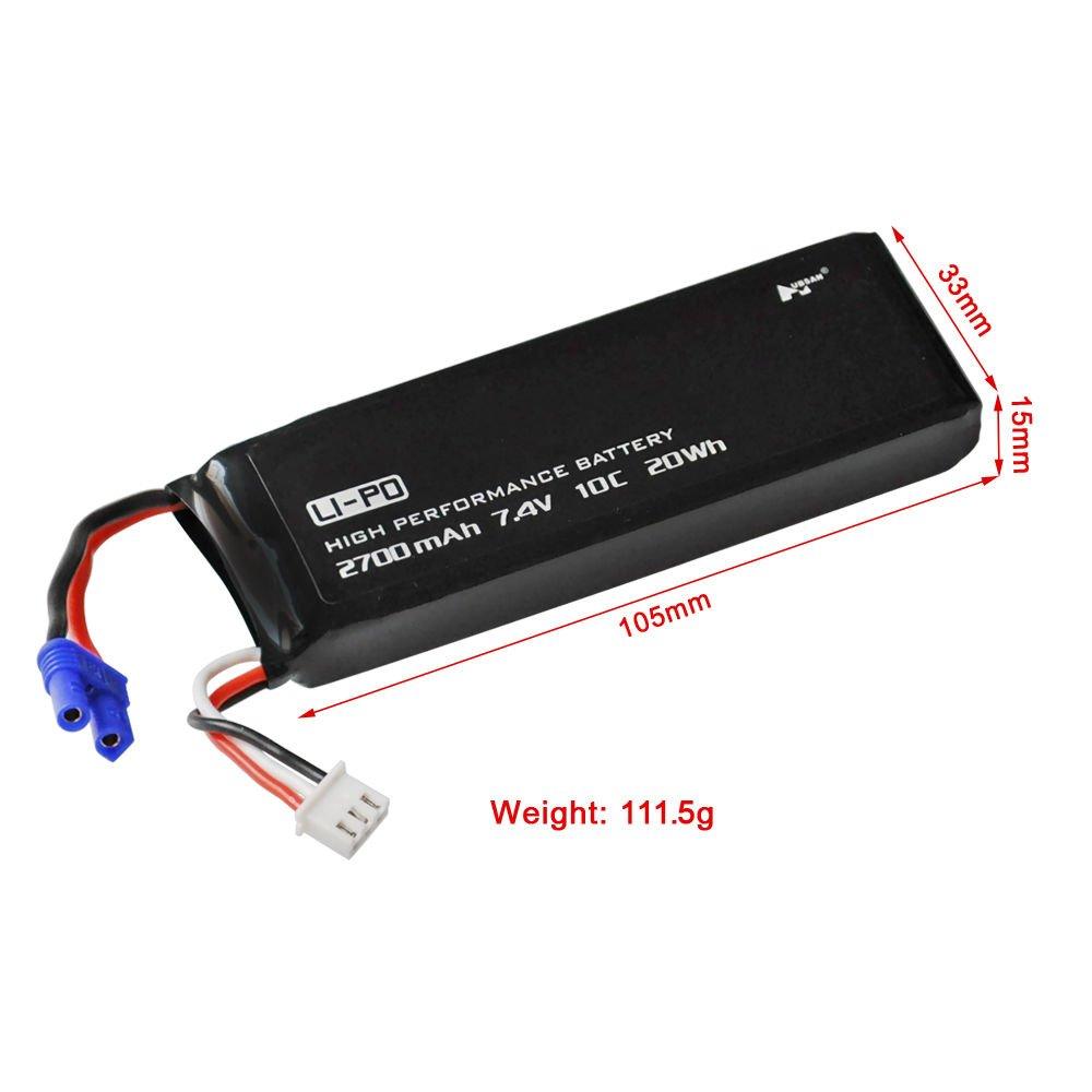 TATTU 2700mAh 2S bater/ía Lipo para Hubsan x4 Pro H501S Pro H501A H501C
