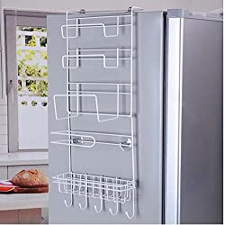 Hanging spice racks for side of refrigerator