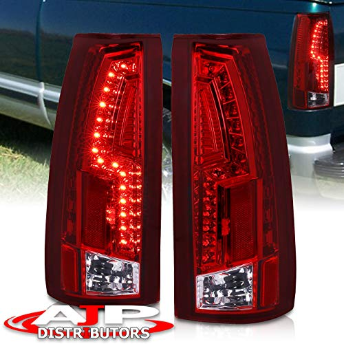 LED Replacement Tail Lights For Chevy C10 C/K 1500 2500 3500 (Red)