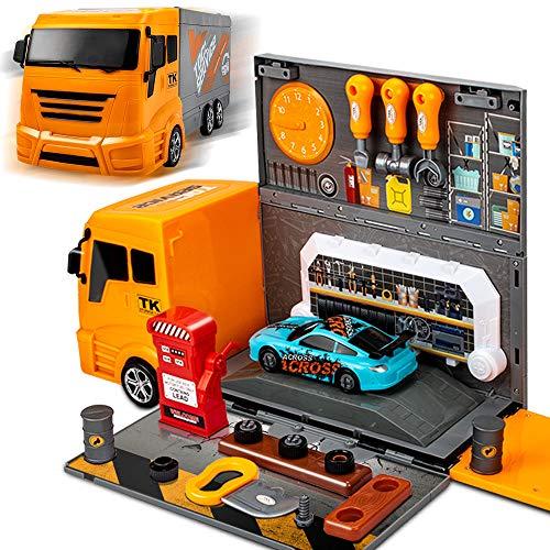 Racing Car Garage W/ Big Truck  $11.60 (60% OFF Coupon)