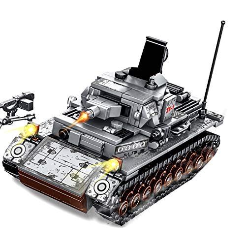 DOSGO Militär Panzer Bausteine, 596 Stück Armeewaffentank Modell Deutsch IV Panzerspielzeug für Kinder Erwachsene Kompatibel mit Lego