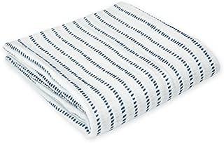 Oliver & Rain Muslin Swaddle Blanket - Dash Stripe