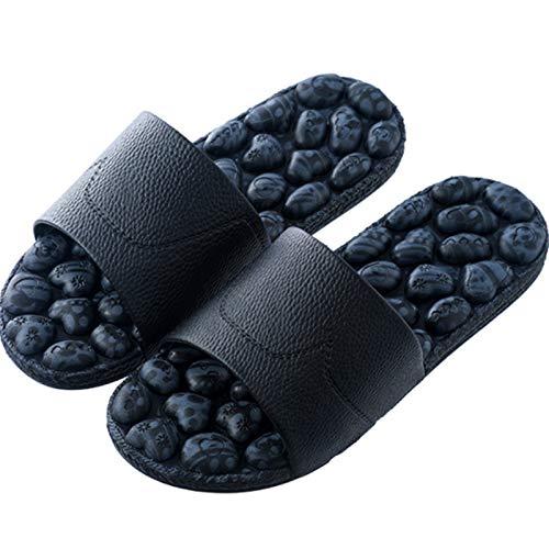 DFFH - Zapatillas de masaje de acupresión para hombres, sandalias de reflexología con chanclas antideslizantes de adoquines, azul, XL