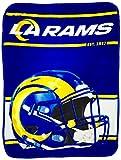 The Northwest Company NFL Los Angeles Rams Run Micro Raschel Throw Blanket, 46' x 60'