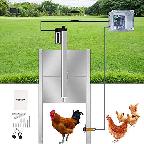 4YANG Automatischer Hühnerstall-Türöffner-Kit mit programmierbarem Timer-Controller,...