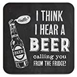 Texto en inglés 'de cerveza bebidas posavasos, diseño de Calling