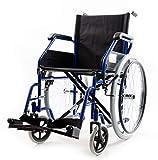 Smart Reha - Carrozzina per disabili Pieghevole ad autospinta a doppia crociera in acciaio...