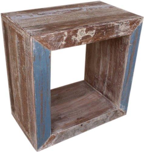 Guru-Shop Antieke Plank `module`, Bruin, Teakhout, 50x50x30 cm, Boeken-Wandplanken