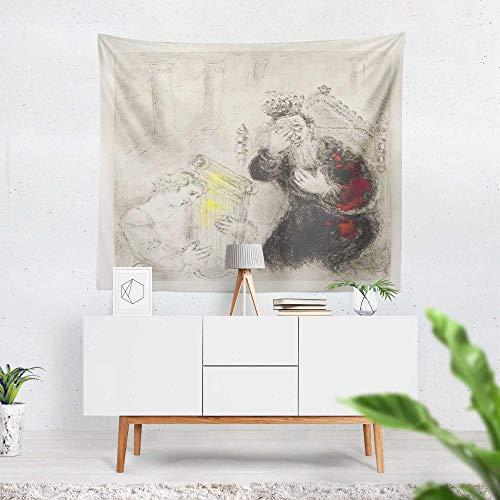 Tapiz - Adornos de Arte para Pared de Hogar, Pareo/Toalla de Playa Grande, Chic Decoración Habitacion 1 pieza, 150×200cm Cuadro abstracto Chagall cuadro rey