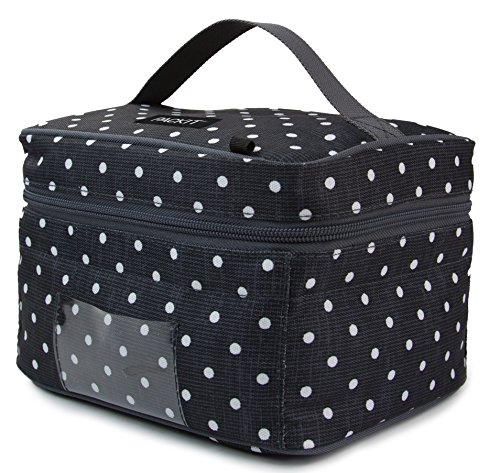 PackIt Freezable Baby Bottle Cooler for Breastmilk and Formula, Polka Dots