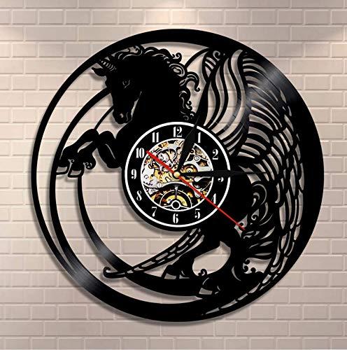 clockxm Reloj de Vinilo navideño Reloj de Pared Magi Reloj de Pared con Registro de Vinilo y Arte de Pared Vintage Reloj Exclusivo para Ella 30 cm