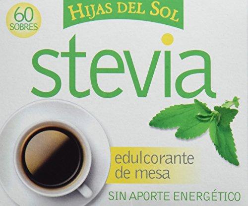 HIJAS DEL SOL Stevia - Edulcorante, 60 Sobres