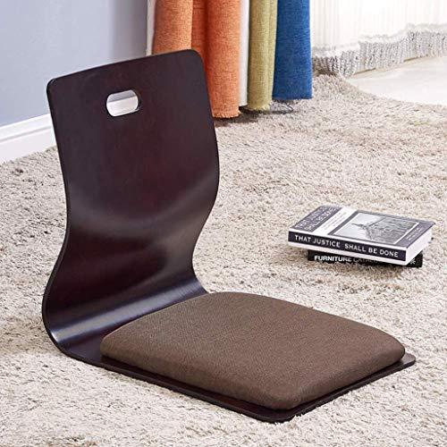 qazwsx Spielstühle, Wohnzimmerstuhl, japanischer beinloser Stuhl, Erkerlehnenstuhl Lazy Chair Cushion, Bodenstuhl Lazy Sofa Game Meditation Bodensitz Bodenstühle