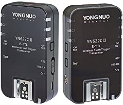 YONGNUO Wireless ETTL Flash Trigger YN622C II with High-Speed Sync HSS 1/8000s for Canon Camera