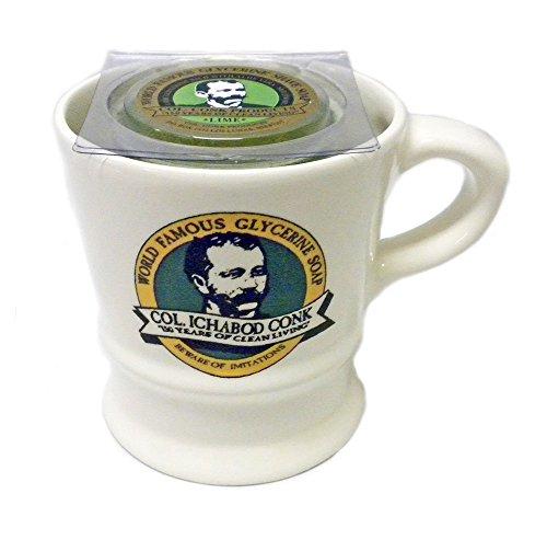Col. Ichabod Conk Shaving Mug w/ Bonus Shave Soap