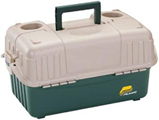 Plano_ 6-Tray Hip Roof Large Tackle Storage Box, Green/Sand