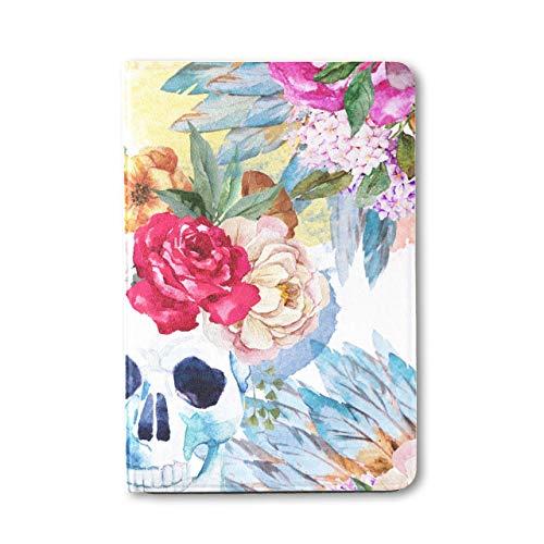 IpadMiniCaseForMen Watercolor Flower Peony Pen Boho Skull MiniIpadCarryingCase Ipad Mini 1/2/3 Auto Sleep/wake With Multi-angle Viewing For Ipad Mini 3/ Mini 2/ Mini 1