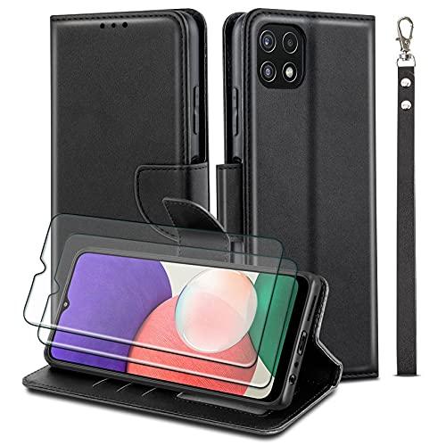 WuGlrz Funda para Samsung Galaxy A22 5G (Non para Galaxy A22 4G) con 2 Piezas Protector de Pantalla,...