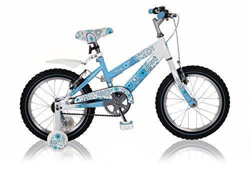 "16 16\"" Zoll Fahrrad Bike Rad Kinderfahrrad Mädchenfahrrad Kinderrad Aurora BLAUWEISS"