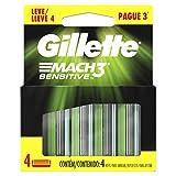 Carga para Aparelho de Barbear Gillette Mach3 Sensitive Leve 4 Pague 3