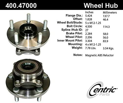 Free Shipping Cheap Bargain Gift Centric 400.47000E Front Wheel Bearing Discount mail order